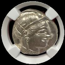 Athens Silver Owl Tetradrachm NGC CHMS 5x5