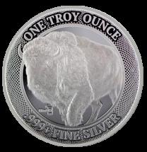 1-oz MintID Silver Buffalo Round