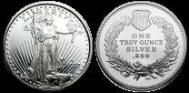 Silver Rounds - 1 Oz. Our Choice Design .999 Fine