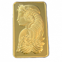 Swiss Pamp 1 oz Gold Bar - Obverse