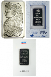 Various Palladium Bars - 1 oz.