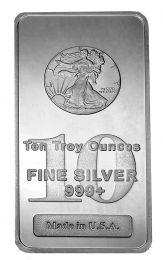 Walking Liberty Silver Bar - 10 oz