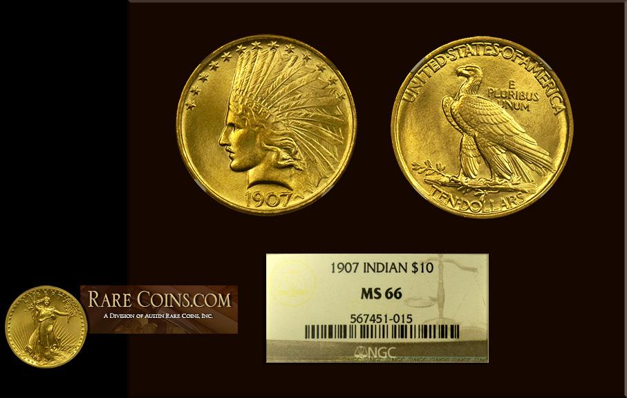 1907 $10 Indian Gold Coin NGC