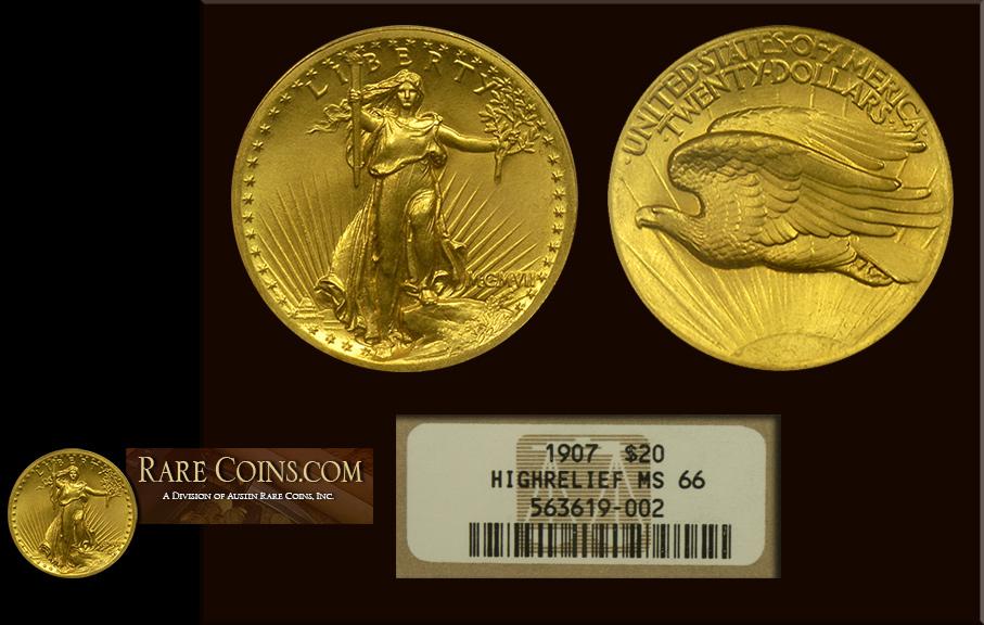 Saint Gaudens Gold Coin Mint Sate 66