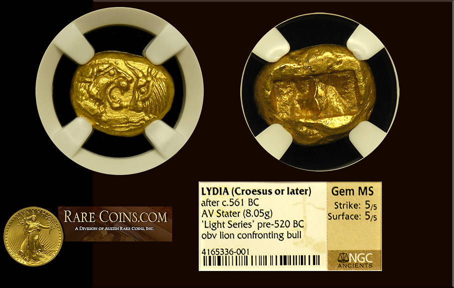 Lydia Gold Stater NGC Gem Mint State
