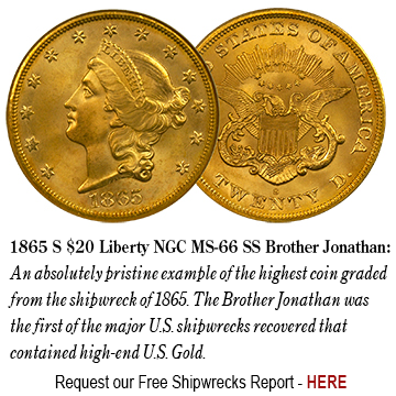 1865 S $20 Liberty NGC MS-66 SS Brother Jonathan