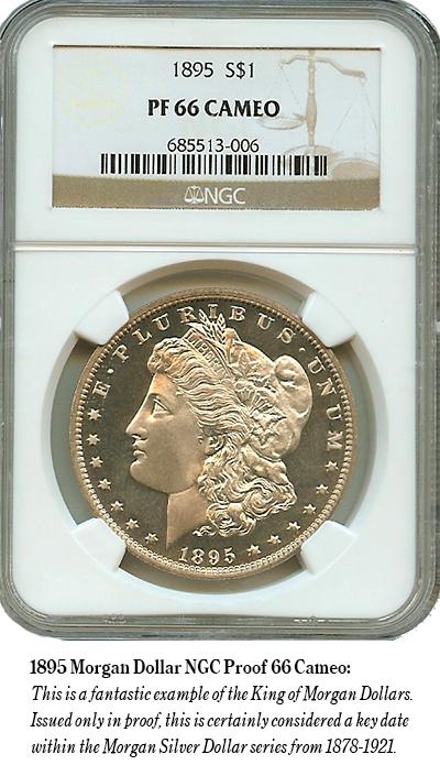 1895 Morgan Dollar NGC Proof 66 Cameo