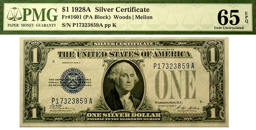 1928 U.S. Dollar or Silver Certificate