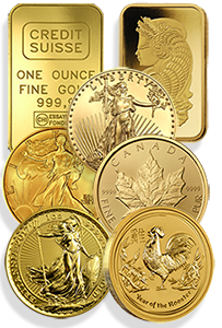 Gold coins group