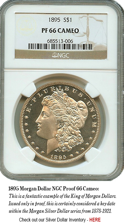 1895 Morgan Dollar NGC Proof 66 Cameo