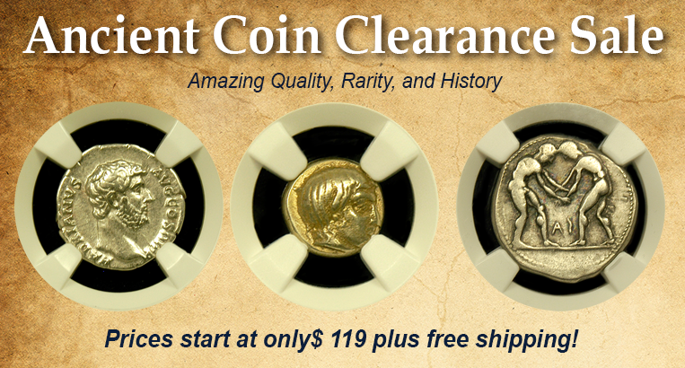ancient coin clearance
