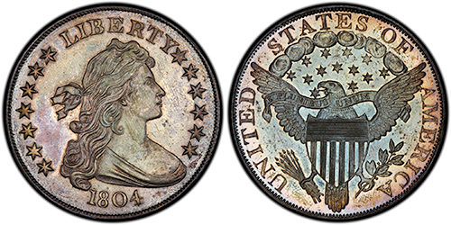 1804 draped liberty silver dollar