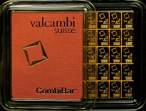 50 Gram Gold Bar- Valcambi Suisse