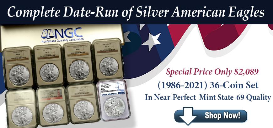 Silver Eagle Coin Set