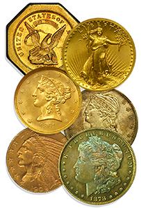 rare coins grouping
